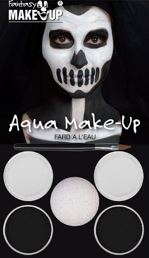 Black/White Aqua Makeup Kit SFX Cosmetic Artist